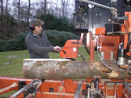 Mobiele zaag…van stam tot plank
