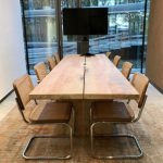 houten tafels van esdoorn